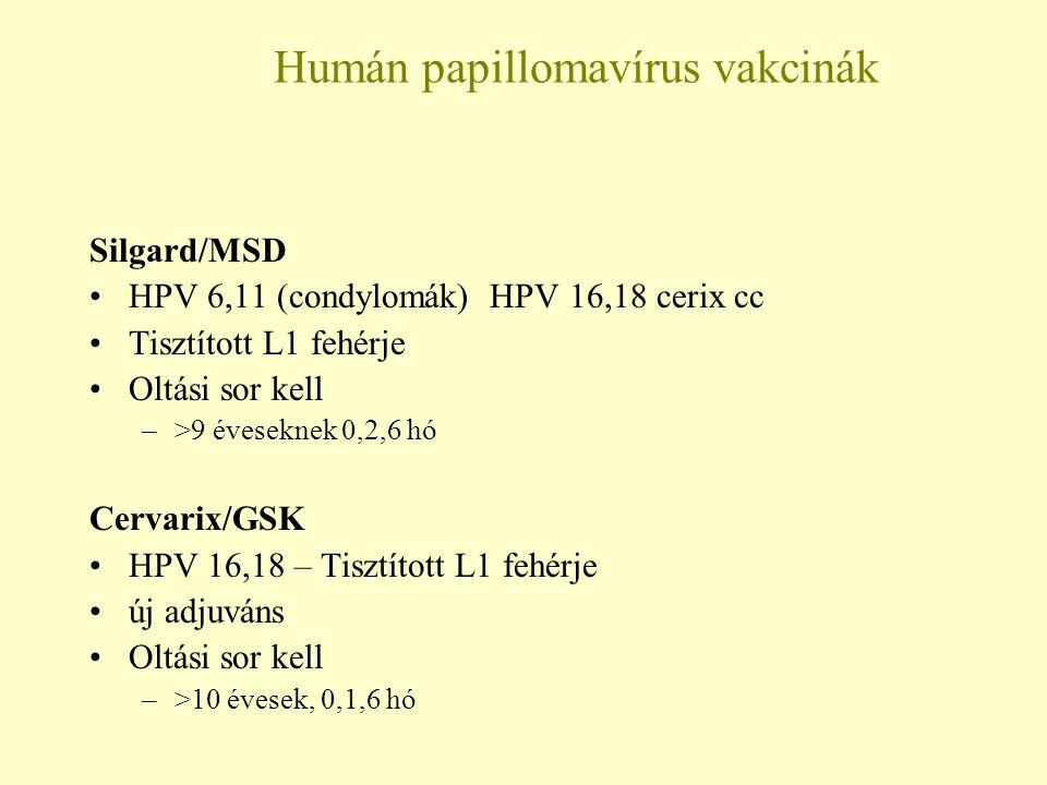 humán papillomavírus kezelési rend
