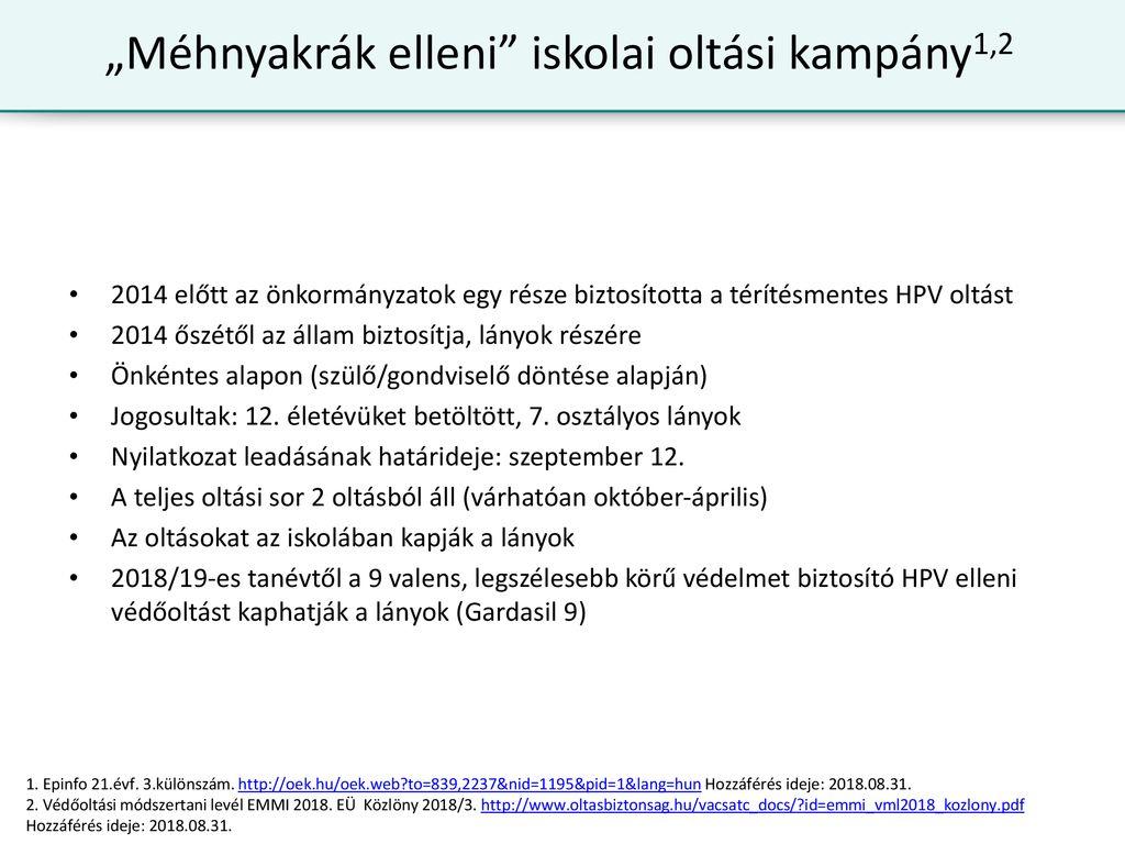 humán papillomavírus 9 valens vakcina hpv impfung jungen hkk