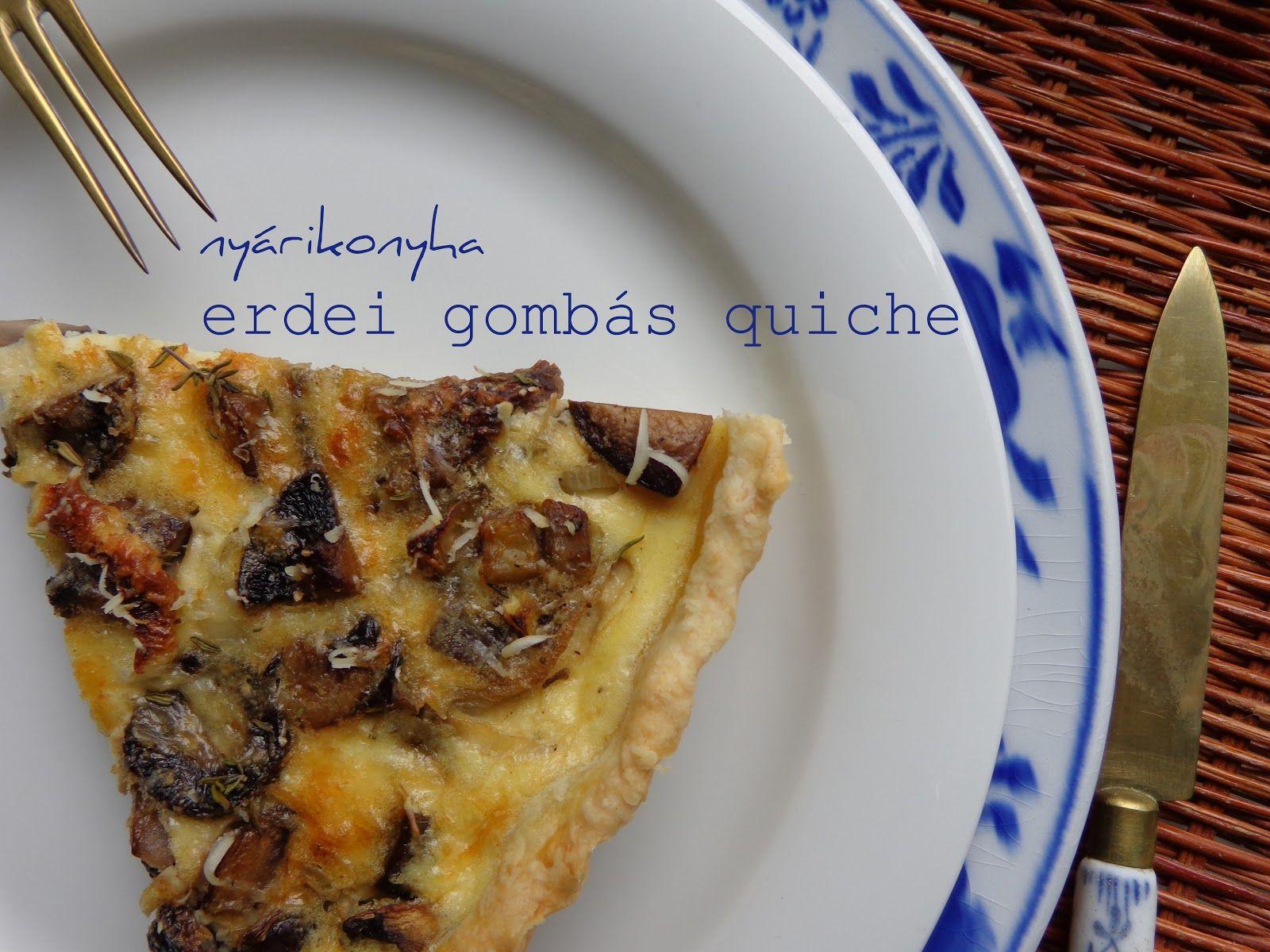 gomba quiche